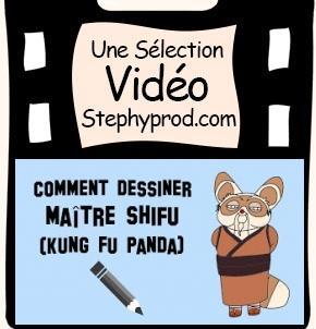 Vidéo Dessiner maître Shifu de Kung Fu Panda pour les enfants et les bébés.