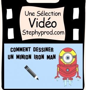 Vidéo Dessiner le minion Iron Man pour les enfants et les bébés.