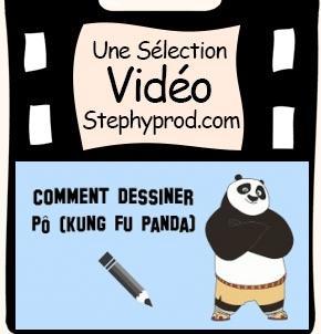 Vidéo Comment dessiner Pô de Kung Fu Panda pour les enfants et les bébés.
