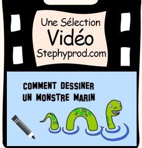 Vidéo Dessiner un monstre marin qui ne fait pas peur pour les enfants et les bébés.