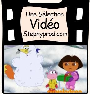 Vidéo Dora l'exploratrice - Le cadeau du Père Noël pour les enfants et les bébés.