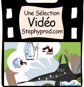 Vidéo Fable de La Fontaine Le Loup et l'Agneau pour les enfants et les bébés.