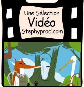 Vidéo Fable de La Fontaine Le Renard et la Cigogne pour les enfants et les bébés.