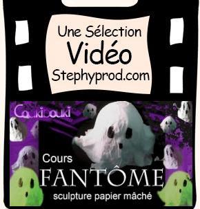 Vidéo Fantôme en papier mâché, une décoration pour Halloween pour les enfants et les bébés.