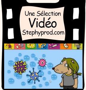 Vidéo La grippe, un dessin animé interactif et éducatif pour les enfants et les bébés.