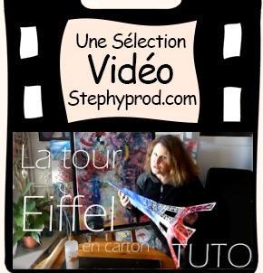 Vidéo La tour Eiffel en carton -  Tutoriel destiné aux enfants pour les enfants et les bébés.