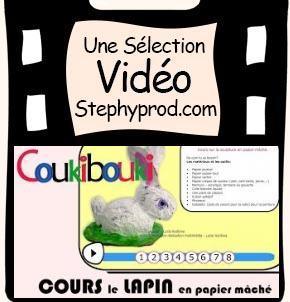 Vidéo Lapin de Pâques en papier mâché pour les enfants et les bébés.
