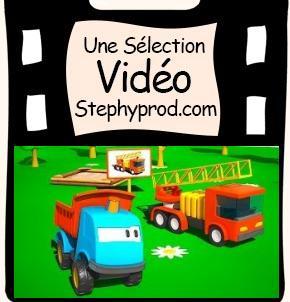 Vidéo Dessin Anime Léo et le camion de pompiers pour les enfants et les bébés.