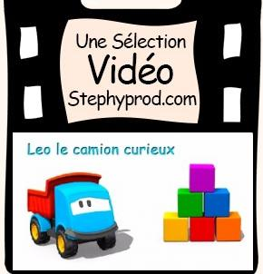 Vidéo Dessin animé Leo le camion curieux et les cubes pour les enfants et les bébés.