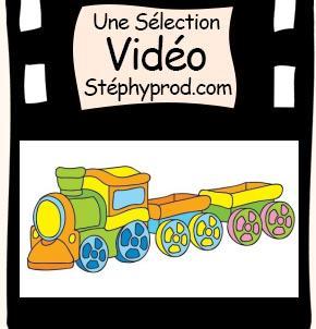Vidéo Mes jouets préférés , une grue et un petit train pour les enfants et les bébés.