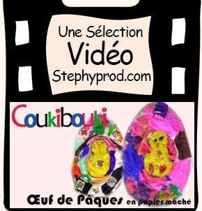 Vidéo Œuf de Pâques en papier mâché pour les enfants et les bébés.