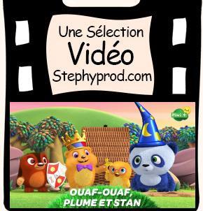 Vidéo Ouaf ouaf, plume et stand, une aventure de conte de fées pour les enfants et les bébés.