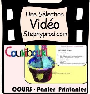 Vidéo Panier printanier pour ramasser ses oeufs de Pâques pour les enfants et les bébés.