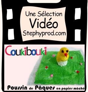 Vidéo Poussin de Pâques en papier mâché pour les enfants et les bébés.