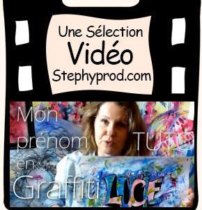 Mon prénom en graffiti  - Tutoriel destiné aux enfants