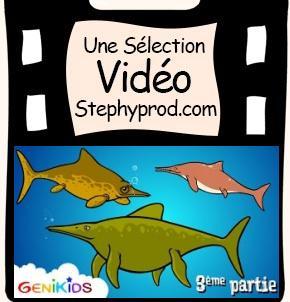 Vidéo Reptiles marins, Les Ichthyosaures, un dessin animé éducatif pour les enfants pour les enfants et les bébés.