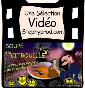 Vidéo Soupe à la citrouille, Le Breuvage Magique de la sorcière pour les enfants et les bébés.