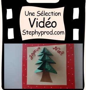 Vidéo Tuto carte de vœux noël 3D, DIY pour les enfants et les bébés.