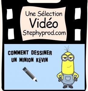 Vidéo Tuto de dessin, le minion Kévin pour les enfants et les bébés.