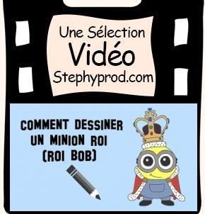 Vidéo Un tuto de dessin, comment dessiner le minion roi pour les enfants et les bébés.