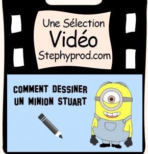 Vidéo Tuto, comment dessiner le minion Stuart pour les enfants et les bébés.