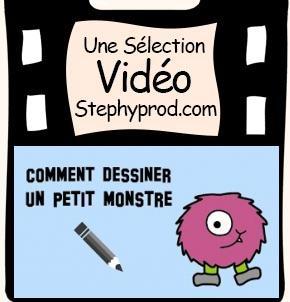 Vidéo Tuto, comment dessiner un petit monstre pour les enfants et les bébés.