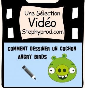 Vidéo Dessiner un cochon angry birds, le tuto facile pour les enfants et les bébés.