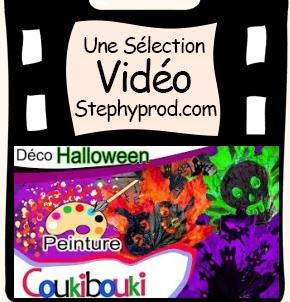 Vidéo Tuto  Halloween, cours de peinture sur feuilles pour les enfants et les bébés.