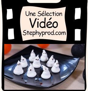Vidéo Tuto Halloween, cuisinez des Fantômes meringués pour les enfants et les bébés.