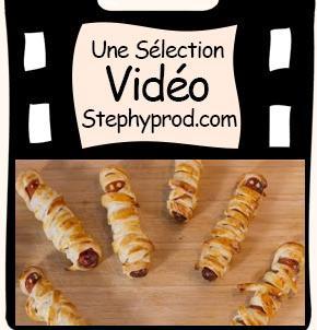 Vidéo Tuto Halloween, cuisinez des Hot dog momies pour les enfants et les bébés.