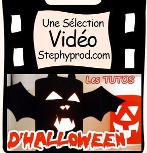 Vidéo Tuto Halloween, les photophores pour votre déco d'halloween pour les enfants et les bébés.