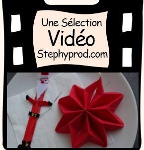Vidéo Tuto pliage de serviette étoile de noël pour votre table pour les enfants et les bébés.