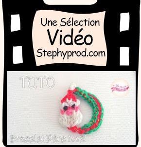 Vidéo Tuto pour Noël, le bracelet du père Noël en Rainbow Loom pour les enfants et les bébés.
