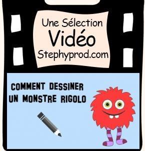 Vidéo Tutoriel de dessin, Comment dessiner un monstre rigolo pour les enfants et les bébés.