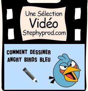 Vidéo Comment dessiner un angry bird bleu, un tuto facile pour les enfants et les bébés.