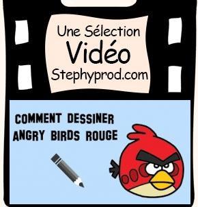 Vidéo Dessiner un angry birds rouge, un tutoriel pour bien desssiner pour les enfants et les bébés.