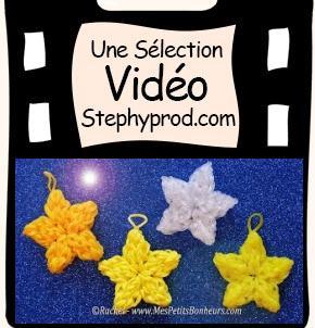 Vidéo Tutoriel étoiles en élastiques pour Noël Rainbow Loom pour les enfants et les bébés.