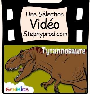 Vidéo Le Tyrannosaure, dessin animé éducatif sur les dinosaures pour les enfants et les bébés.