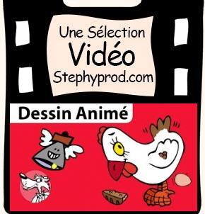 Vidéo Une poule sur un mur, le dessin animé pour les enfants et les bébés.