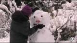 Comment faire un bonhomme de neige avec de la neige