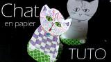 Chat en papier - Tutoriel pour enfants