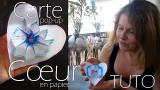 Cœur en papier - Tutoriel destiné aux enfants