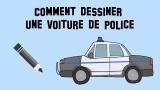 Comment dessiner une voiture de police