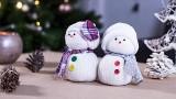Décoration de Noël, le bonhomme de neige en chaussettes