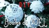Décoration de Noël - Les boules de Noël et les pompons de laine