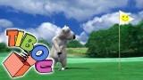 Dessin animé Bernard joue au golf