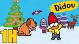 Dessin animé Noël Didou, Sapin de Noël, renne, igloo, luge