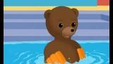 Dessin animé Petit Ours Brun va à la piscine