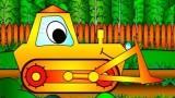Dessin Anime pour enfants, construisons un bulldozer