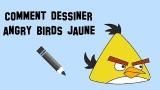Apprendre à dessiner un angry bird jaune, un tutoriel facile